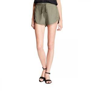 NWT Mossimo Drawstring Soft Twill Shorts XL Olive